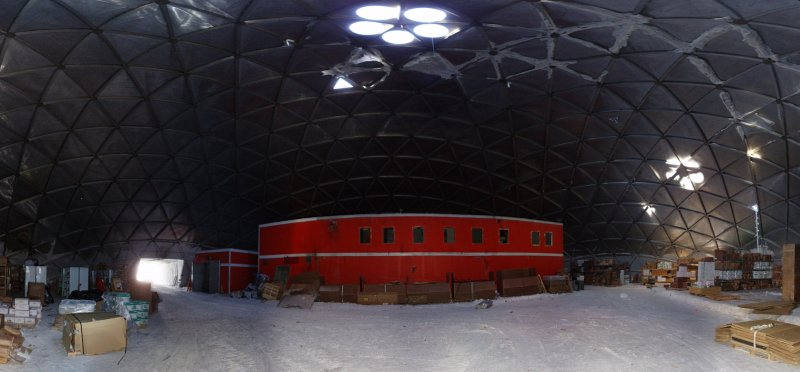 Panorama from the inside of the dome