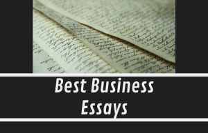 Most Interesting Business Essay You've Read?