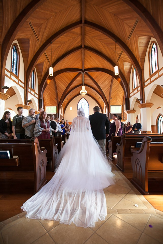 wedding veils. cathedral veil with a hood