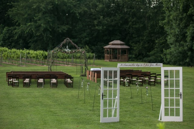 ceremony site at Natchez hills winery