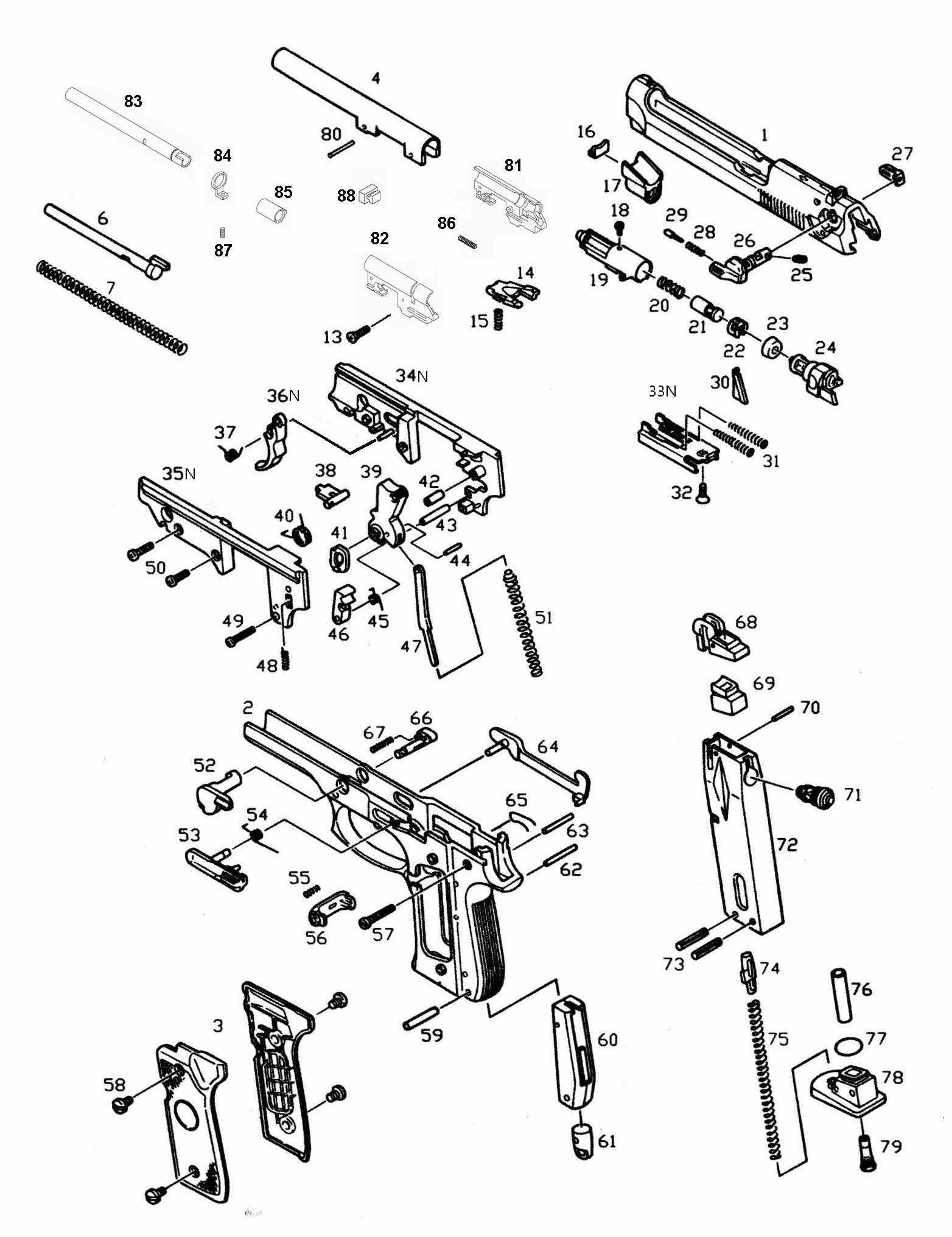 Exploded Diagram Kjw M9  U2013 Ksc Part  U2013 Original  Worldwide