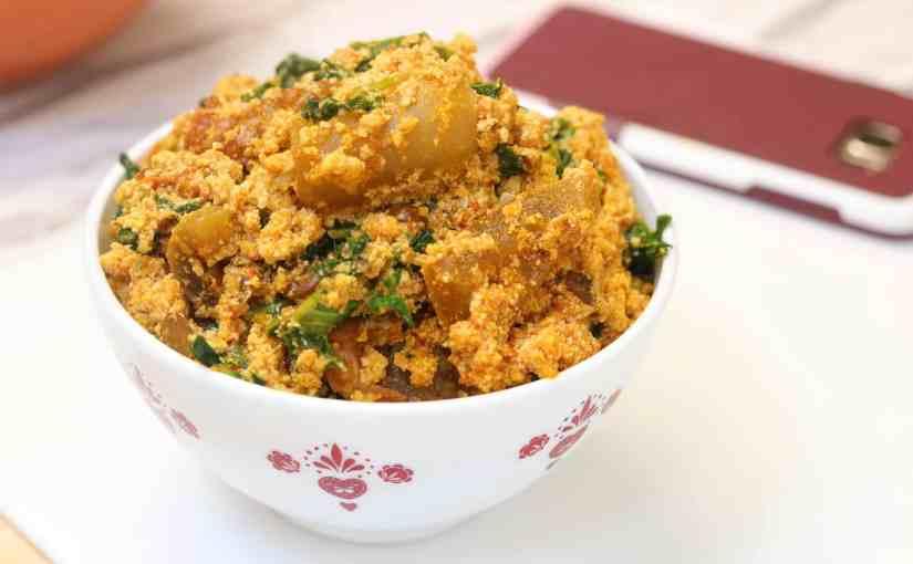 Egusi Soup – Lumpy Egusi using Kale