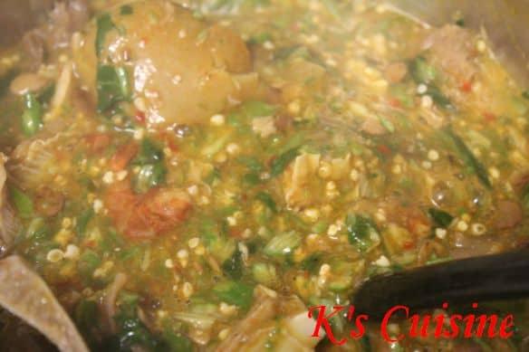 ila asepo (okro soup)