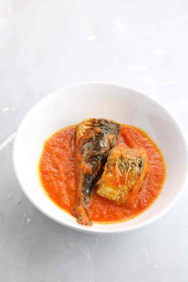 mackerel fish stew . Mackerel stew