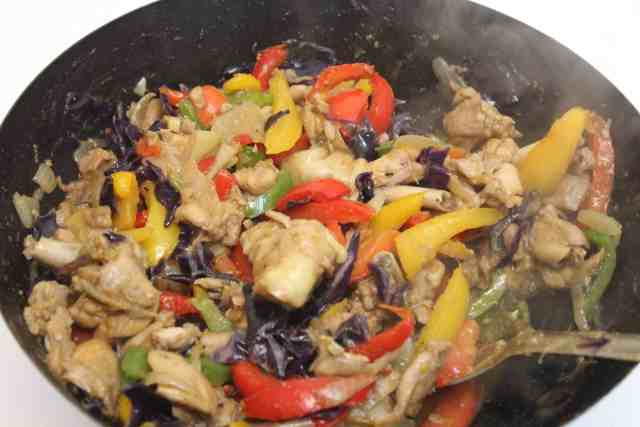 chicken suya stir fry