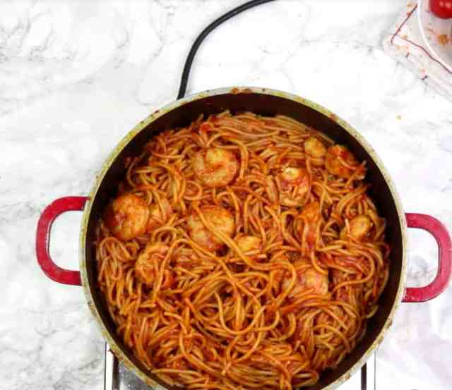 jollof spaghetti picture