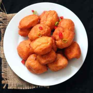 akara served on white plate