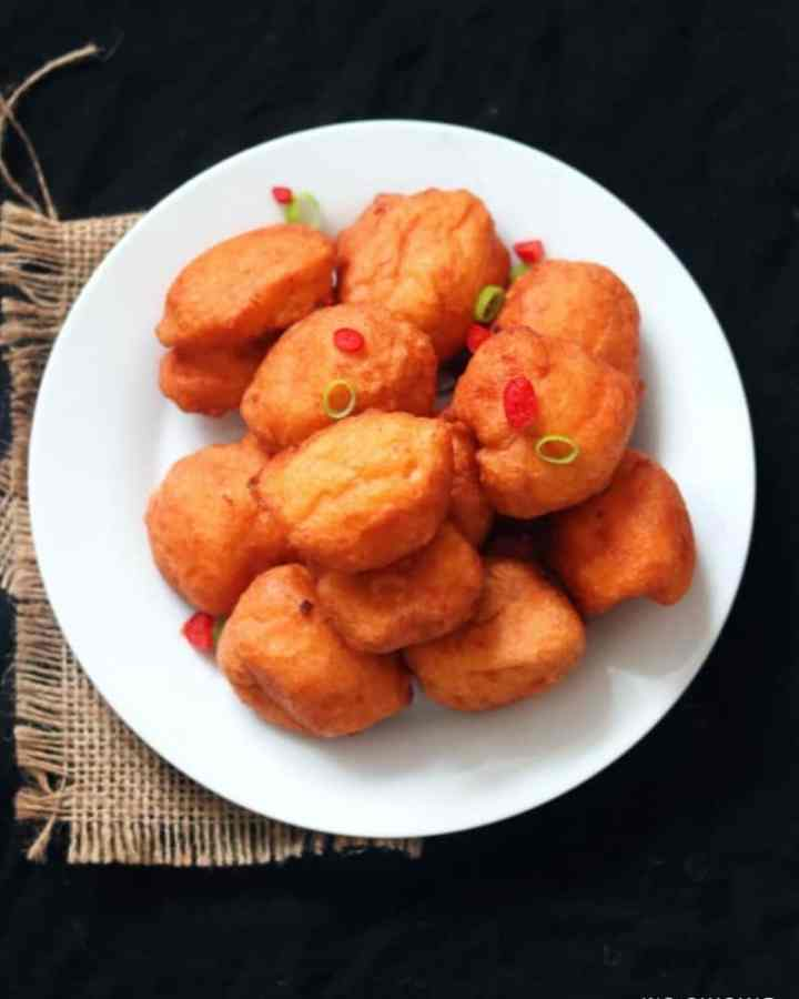 akara served on white plate