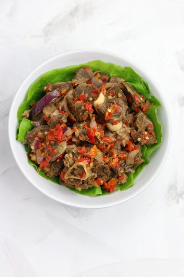 Asun served on lettuce
