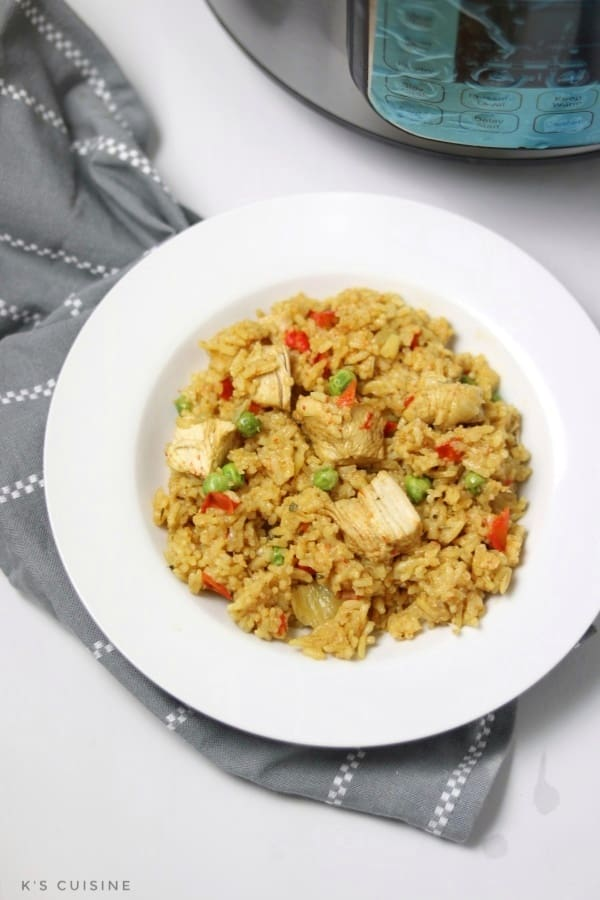 instant pot chicken paella