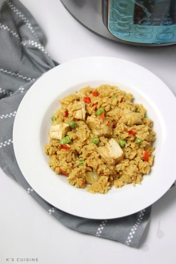 instant pot chicken paella