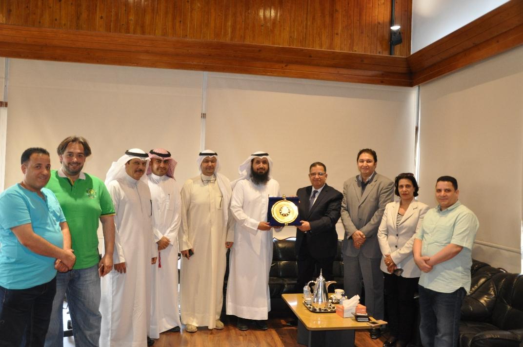 رئيس الجمعية بحث مع رئيس جامعة الدلتا المصرية التعاون المشترك