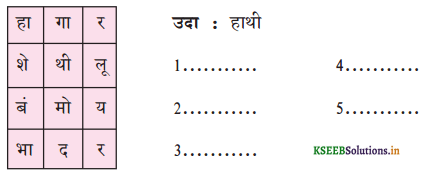 KSEEB Solutions for Class 6 Hindi वल्लरी Chapter 19 हाथी मेरा साथी 1