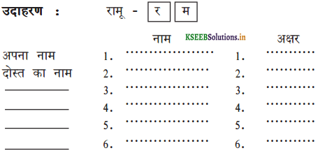 KSEEB Solutions for Class 6 Hindi वल्लरी Chapter 23 अक्षर ही अक्षर 2