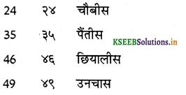 KSEEB Solutions for Class 6 Hindi वल्लरी Chapter 24 गिनती (21 से 50 तक) 7