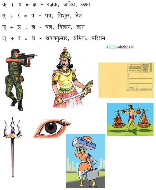 KSEEB Solutions for Class 6 Hindi वल्लरी Chapter 6 संयुक्ताक्षर 1