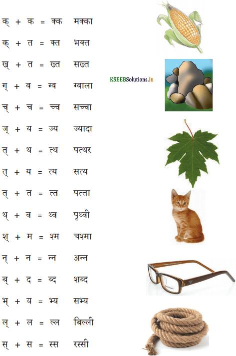 KSEEB Solutions for Class 6 Hindi वल्लरी Chapter 6 संयुक्ताक्षर 2