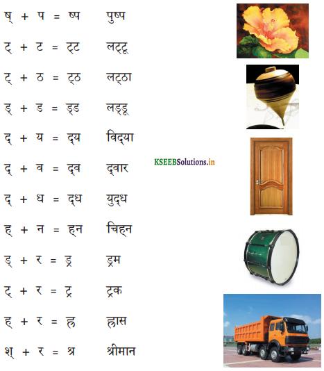 KSEEB Solutions for Class 6 Hindi वल्लरी Chapter 6 संयुक्ताक्षर 3