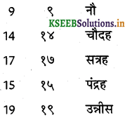 KSEEB Solutions for Class 6 Hindi वल्लरी Chapter 7 गिनती (1 से 20 तक) 8