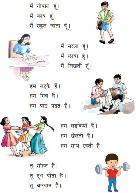 KSEEB Solutions for Class 6 Hindi वल्लरी Chapter 8 मैं, हम, तू, तुम, आप 1