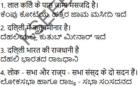 KSEEB Solutions for Class 7 Hindi वल्लरी Chapter 9 दिल्ली 1