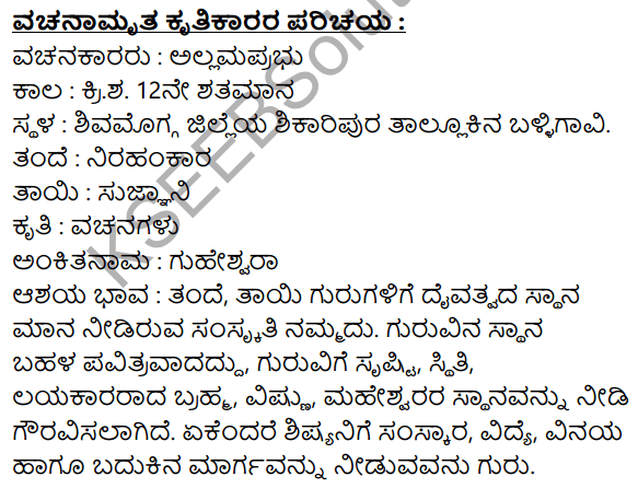 Vachanamrut Summary in Kannada 1