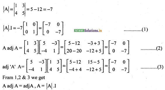 2nd PUC Basic Maths Question Bank Chapter 1 Matrices and Determinants 52