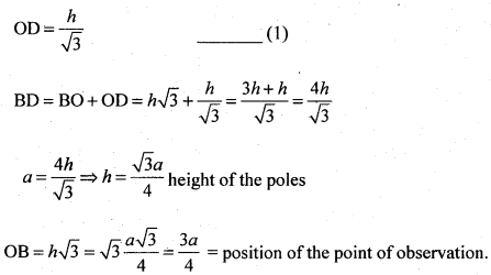2nd PUC Basic Maths Question Bank Chapter 13 Heights and Distances 18