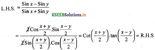 2nd PUC Basic Maths Question Bank Chapter 14 Compound Angles, Multiple Angles, Sub Multiples Angles and Transformation Formulae 21