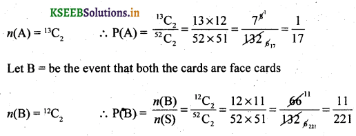 2nd PUC Basic Maths Question Bank Chapter 3 Probability 16