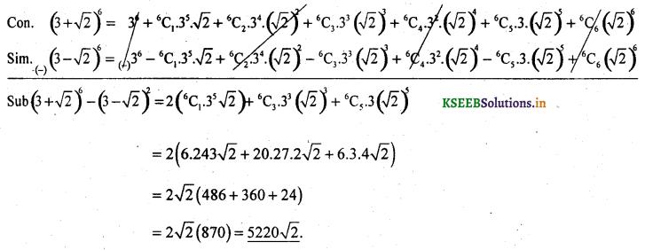 2nd PUC Basic Maths Question Bank Chapter 4 Binomial Theorem 25