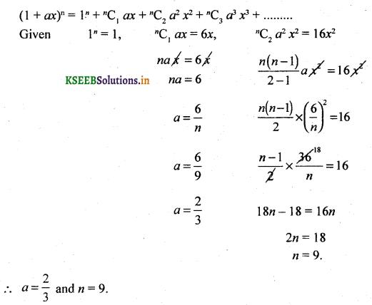 2nd PUC Basic Maths Question Bank Chapter 4 Binomial Theorem 44