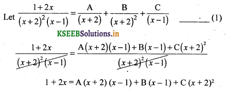 2nd PUC Basic Maths Question Bank Chapter 5 Partial Fractions 10