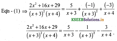 2nd PUC Basic Maths Question Bank Chapter 5 Partial Fractions 20