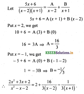 2nd PUC Basic Maths Question Bank Chapter 5 Partial Fractions 24