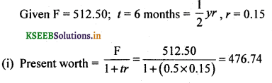 2nd PUC Basic Maths Question Bank Chapter 8 Bill Discounting 11