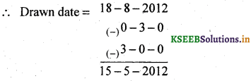 2nd PUC Basic Maths Question Bank Chapter 8 Bill Discounting 2