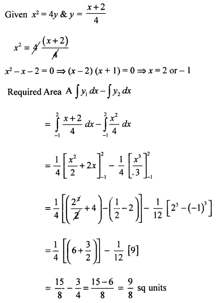 2nd PUC Basic Maths Question Bank Chapter 21 Definite Integral and its Applications to Areas 73