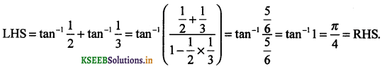 2nd PUC Maths Question Bank Chapter - 2 Inverse Trigonometric Functions - 19