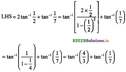 2nd PUC Maths Question Bank Chapter - 2 Inverse Trigonometric Functions - 64