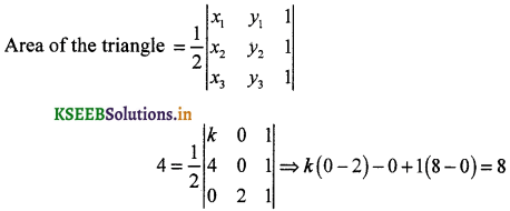 2nd PUC Maths Question Bank Chapter - 4 Determinant - 11