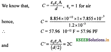 2nd PUC Physics Question Bank Chapter 2 Electrostatic Potential and Capacitance 71