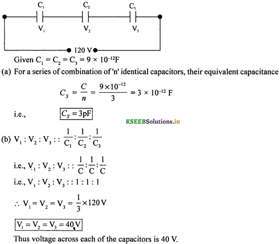 2nd PUC Physics Question Bank Chapter 2 Electrostatic Potential and Capacitance 88
