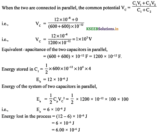 2nd PUC Physics Question Bank Chapter 2 Electrostatic Potential and Capacitance 91