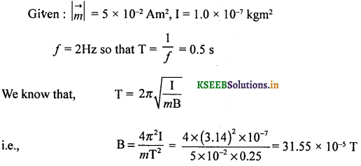 2nd PUC Physics Question Bank Chapter 5 Magnetism and Matter 40