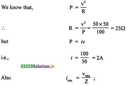 2nd PUC Physics Question Bank Chapter 7 Alternating Current 68