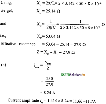 2nd PUC Physics Question Bank Chapter 7 Alternating Current 84