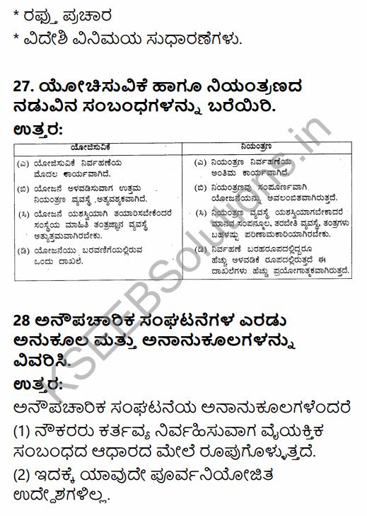 2nd PUC Political Science Model Question Paper 4 with Answers in Kannada 14