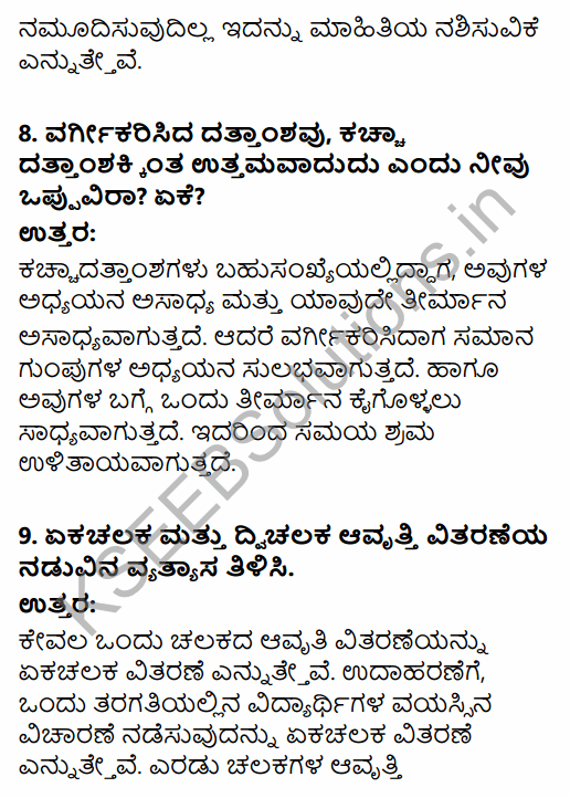 1st PUC Economics Question Bank Chapter 3 Organisation of Data in Kannada 9