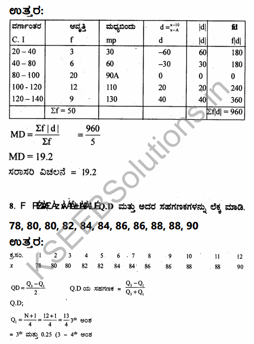 1st PUC Economics Question Bank Chapter 6 Measures of Dispersion in Kannada 35